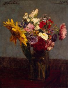 Bouquet of Flowers - Henri Fantin-Latour | Flowers Paintings, State Hermitage Museum