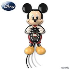 Disney Mickey Mouse Motion Wall Clock - With Moving Eyes And Tail