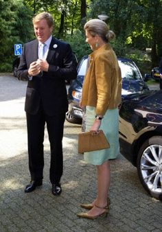 Dutch King Willem-Alexander and Queen Maxima visit the culture center Antropia in Driebergen, Netherlands, 26.06.2014.