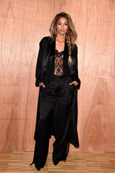 Ciara in Givenchy and a disheveled fishtail braid.