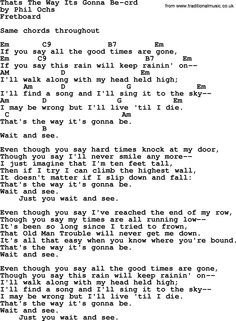 Phil Ochs song Thats The Way Its Gonna Be- by Phil Ochs, lyrics and chords