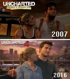 Nelena - Progress from Uncharted to Uncharted 4.