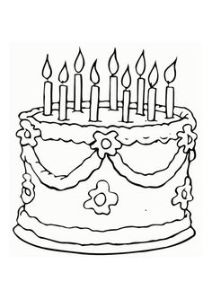 Birthday Coloring Pages 158 Free Inspiration