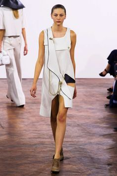 Love the peekaboo! J.W. Anderson S/S15 #ss15 #lfw #fashion