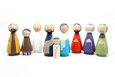 SUPER SALE Goose Grease Original Peg Doll Nativity by goosegrease, $130.00