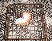 Vintage Copper Beach Decor Napkin Holder $20 Shipping Included