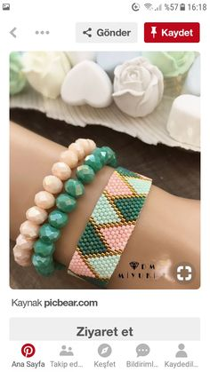 Woven handles Source by celikatici Loom Bracelet Patterns, Bead Loom Bracelets, Bead Loom Patterns, Beading Patterns, Seed Bead Jewelry, Bead Jewellery, Beaded Jewelry, Handmade Jewelry, Bijoux Diy