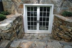 Beautiful stone work to replace a bilko door to the basement.
