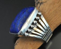 Lapis Ring 2, Authentic Native American Jewelry - Silver Sun Santa Fe