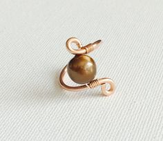 Chocolate Tahitian Pearl Ring, tahitian pearl ring, wire wrapped ring, handmade pearl ring, bridesmaid ring, mermaid ring, custom order ring