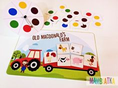 Do you know the song Old MacDonald Had A Farm by Super Simple Learning? I'm sure most of you do. I like this song a lot and so do my students. I decided to prepare a game that refers to this great song for them.You can practice farm animals and colors thanks to this game.To learn about the rules visit my blog:http://www.mambiatka.com/2016/03/the-old-macdonalds-farm.html