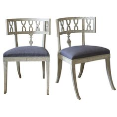 Pair of Klismos chairs