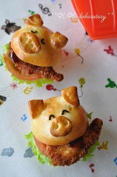 ルクエパン☆トン!カツバーガー ♥ Bread