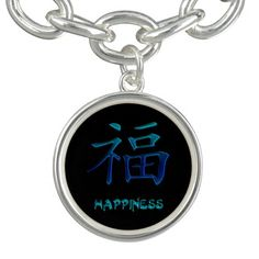 Chinese Symbol for Happiness Charm and Bracelet