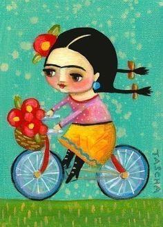 Go Frida Go! Elle doit rouler vite car ses tresses sont bien horizontales... J'aime!