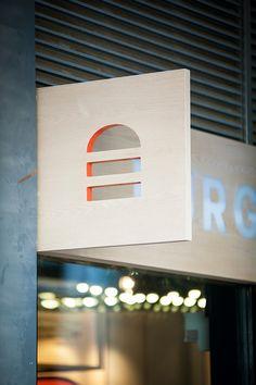Burger House on Behance: signage