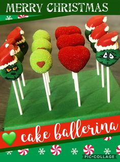 Excited to share this item from my #etsy shop: Grinch Cake Pops Christmas Cake Pops, Christmas Desserts, Christmas Treats, Grinch Cake, 18th Cake, White Cake Pops, Cake Pop Stands, Sea Cakes, Hello Kitty Cake