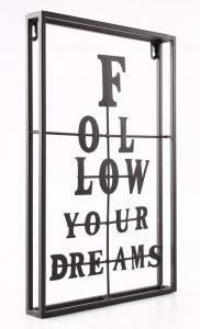 HOME Design :: Dekoracja ścienna Follow your Dreams metal 45cm (D642211)