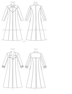 251 best joseph and the amazing technicolor dreamcoat 2016 images Jessica McClintock Gunne Sax Dresses m7374 collared and seamed coats sewing pattern