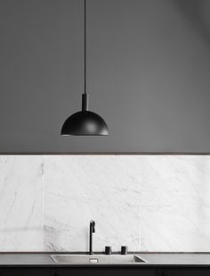 The iconic Studio Lamp series, designed by Laura Bilde, and the Globe Light series, designed by Emil Thorup, are part of the permanent lighting. Monochrome, Studio Lamp, Globe Lights, Danish Design, Furniture Design, Ceiling Lights, Lighting, Pendant, Kitchen