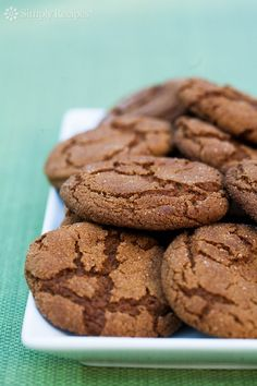 Molasses Spice Cookies ~ Big and chewy molasses spice cookies recipe. Much like a ginger snap, but chewier. ~ SimplyRecipes.com
