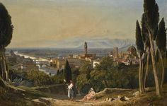 William James Muller  FLORENCE, A VIEW OF THE CITY AND THE RIVER ARNO FROM SAN MINIATO
