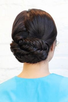 DIY braided updo