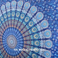 Blue Mandala Tapestry, Hippie Tapestries, Tapestry Wall Hanging, Bohemian Tapestries, Tapestry Throw, Wall Tapestries, Dorm Decor Tapestries