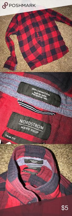 3 for $10 Men's Flannel Cotton Bundle three items and I will offer discount Nordstrom Shirts Casual Button Down Shirts