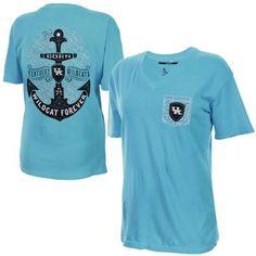 Kentucky Wildcats Women's Anchor Flourish V-Neck T-Shirt - Blue