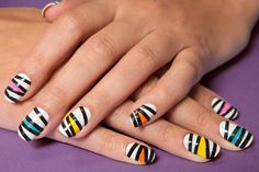 How to Create a Colorful Zigzag Manicure | Teen Vogue