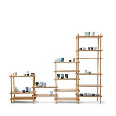 vij5 le belge system set 16 stokken 04 2011 image by vij5 Wooden Bookcase, Bookcase Storage, Ladder Bookcase, Shelves, Storage Units, Shelf System, Wood Steel, Small Storage, Retail Design