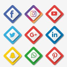 Blue Social Media Icons, Social, Media, Icon PNG and