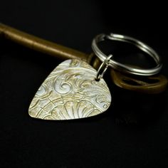 Guitar pick key ring, guitar player gift, man gifts, groom gifts by ItsVera, $17.99