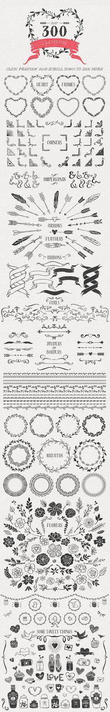 Hand Drawn Romantic Decoration Pack - Illustrations - 3