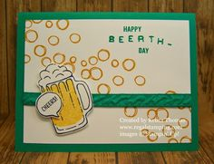 Beerthday Card using Mixed Drinks by Stampin' Up!, Card by Krista Thomas, www.regalstamping.com