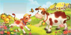 . Farm Animals, Cute Animals, Kindergarten Design, Spring Images, Mother Art, Farm Yard, Stories For Kids, Tinkerbell, Illustrators