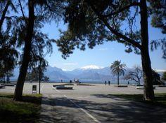 Karaalioglu Park and the Taurus Mountains at Antalya in Turkey
