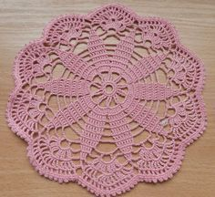 """This doily is hand crocheted with an 100% cotton thread.Wonderful Home decor and Table Decoration Measures 7"""" / 18 cm / Hand wash and lay flat to dry. Thank you for visiting my shop"""