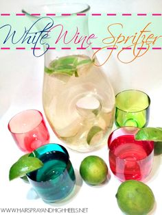 White Wine Spritzer Recipe | White wine spritzer for your next party? Yes! #youresopretty
