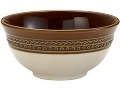Paula Deen Southern Charm Set of 4 Cereal Bowls: Chestnut