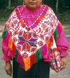 Tenek Quechquemitl Mexico by Teyacapan, via Flickr These are the traditionally accepted costumes or dresses of the various regions of Mexico from generations past up to currently - for more of Mexico visit www.mainlymexican... #Mexico #Mexican #women #fashion #costume #dress