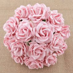 5 x CHELSEA ROSES 35mm MULBERRY PAPER FLOWERS Cardmaking & Craft Embellishments #WildOrchidsCrafts