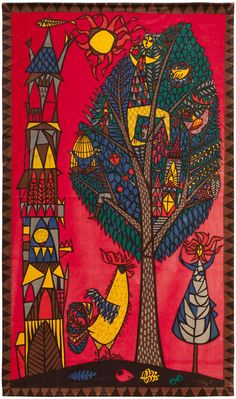 Stig Lingberg, Tree of Life by Textilkammare for Nordiska Kompaniet, 1960s.