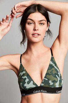 9bbc395728 Calvin Klein Modern Cotton Triangle Bra Brassiere Ck