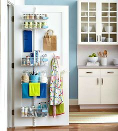 Kitchen Pantry Storage Ideas Beautiful Store More with these Behind the Door Storage Ideas Behind Door Storage, Pantry Door Storage, Pantry Door Organizer, Kitchen Organization, Kitchen Storage, Storage Spaces, Storage Ideas, Pantry Closet, Pantry Doors