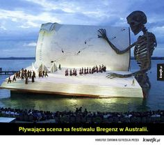 It has suddenly become goal in life to see a show here: Floating stage on Lake Constance in Bregenz, Austria. The Bregenzer Festspiele (Bregenz Festival) has become renowned for its unconventional staging of shows. Bregenz Festival, Scary Music, Floating Books, Theatre Stage, Wicked Theatre, Tampa Theatre, Stage Set, Stage Play, Stage Design