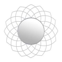 Silver Geometric Decorative Mirror, 23 in.   Kirklands