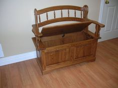 Deacons bench, wood bench, entryway bench, hall storage bench, hall bench, Harts Country Furniture Sutton Ontario.