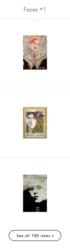 """""""Faces #1"""" by nrccsgmom ❤ liked on Polyvore featuring jeans, people, home, home decor, wall art, inspirational home decor, motivational paintings, inspirational wall art, motivational wall art and inspirational paintings"""